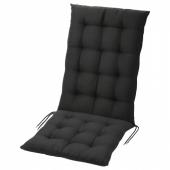 ХОЛЛО Подушка на садовую мебель, черный, 116x47 см