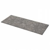ЭКБАККЕН Столешница, темно-серый под мрамор, ламинат под мрамор ламинат, 186x2.8 см