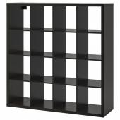 КАЛЛАКС Стеллаж, черно-коричневый, 147x147 см