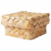 ХАНТВЕРК Коробка с крышкой, ручная работа волокно банана, 20x20x11 см