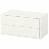 ЭКЕТ Шкаф с 2 ящиками,белый