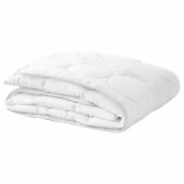 ЛЕНАСТ Одеяло в детскую кроватку, белый, серый, 110x125 см