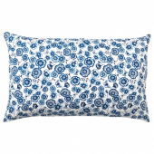 СОНГЛЭРКА Подушка, цветок, синий белый, 65x40 см