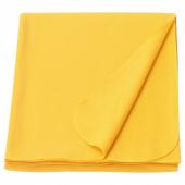 МАНДАРИНРОЗ Плед, желтый, 130x160 см