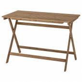 АСКХОЛЬМЕН Садовый стол,складной светло-коричневая морилка светло-коричневый серо-коричневая морилка