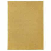АЛЛЕРСЛЕВ Ковер, длинный ворс, желто-коричневый, 133x180 см