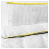 КЛЭММИГ Комплект постельного белья, 3 предм, серый, 60x120 см