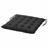ХОЛЛО Подушка на садовый стул, черный, 50x50 см