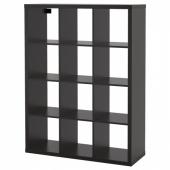 КАЛЛАКС Стеллаж, черно-коричневый, 112x147 см