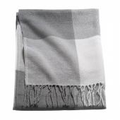 АННАМИА Плед, серый/белый, 140x205 см