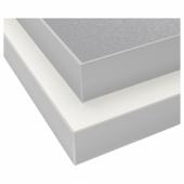 ХЭЛЛЕСТАД Столешница, двусторонняя, белый под алюминий, под алюминий с окантовкой под металл ламинат с окантовкой под металл, 186x3.8 см