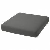 ФРЁСЁН/ДУВХОЛЬМЕН Подушка на сиденье,д/садовой мебели, темно-серый, 62x62 см